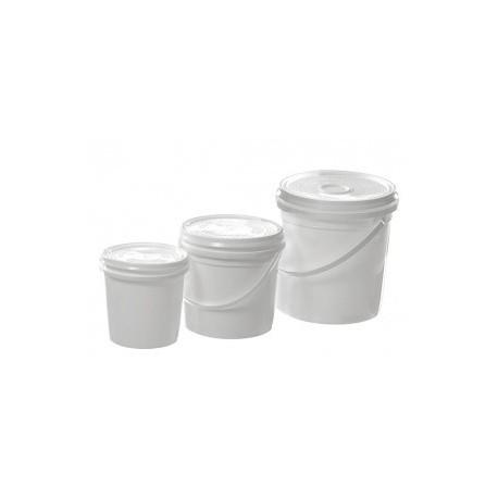 Plastic Mixing Pot & Lid 1lt