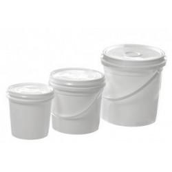 Plastic Mixing Pot & Lid 5lt
