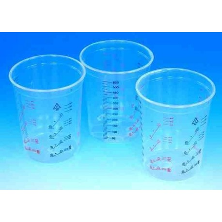 Clear Polypropylene Mixing Cups (Pack of 50)