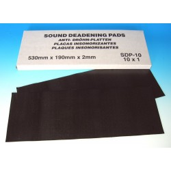 Sound Deadening Pads 190mm x 530mm (Pack of 10)