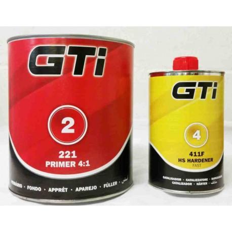 GTi 4:1 2K Fast Primer Kit GTI221 Primer + GTI411 Fast Hardener