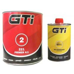 GTi 4:1 2K Standard Primer Kit GTI221 Primer + GTI411 Standard Hardener