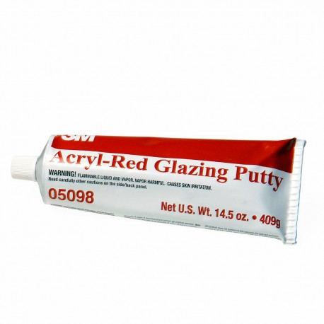 3M Acryl Putty, Red Glazing, 409g, PN05098