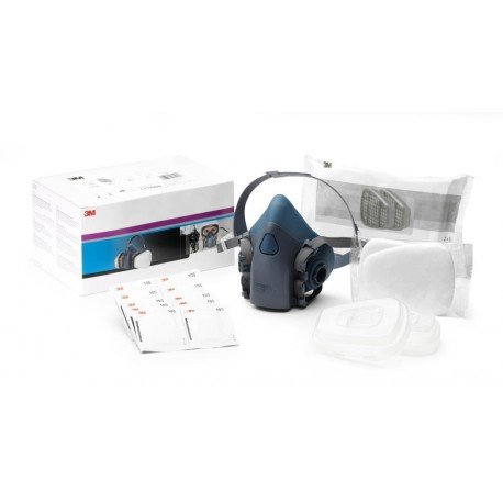 3M Respirator Starter Kit, A2P2 R Filter, Large Half Mask, 06783