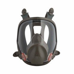 3M Large Reusable Full Face Mask Respirator, Dark Grey