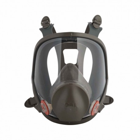 3M Reusable Full Face Mask Respirator, Dark Grey, Large