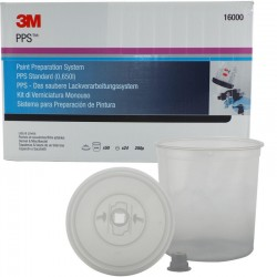 3M PPS Standard Lids & Liners Kit, 200mu, Qty of 50 - 16000