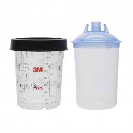 3M PPS Midi Lids & Liners Kit, 400ml, 125mu,  Qty of 50