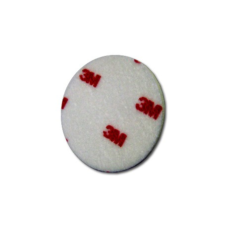 3M Foam Polishing Pad, White, 76 mm, Qty of 5