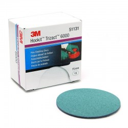 3M Trizact Hookit Fine Finishing Disc, 75 mm, Plain, P6000, Qty of 15
