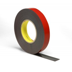3M Acrylic Plus Tape PT1100, Black, 25 mm x 20 m