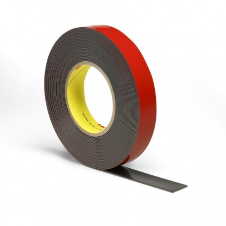 3M 25mm x 20m Acrylic Plus Tape PT1100, Black - by Grove