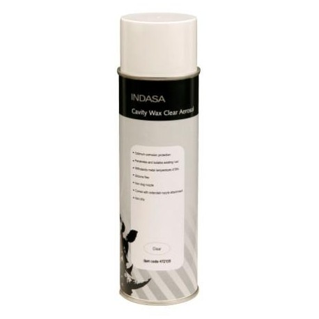 Indasa Aerosol Cavity Wax, Clear, 500ml