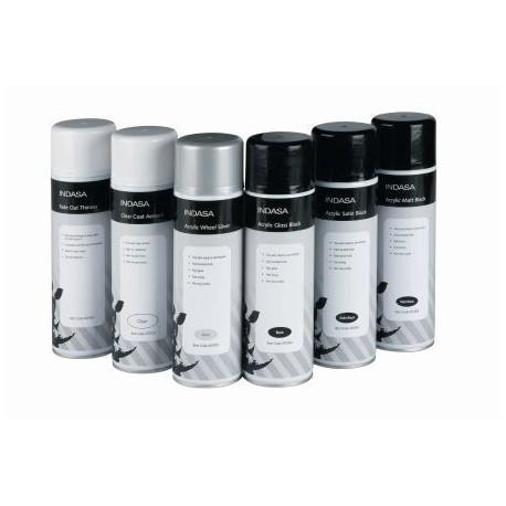 Indasa Aerosol Acrylic Gloss Black, 500ml