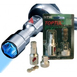 "Redashe TOPTUL Professional LED Lighting Adaptor 1/2""F x 3/8""M."