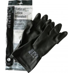 Pair of Black Heavyweight Latex Blended Neoprene Gloves Size 10 - by Grove