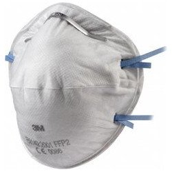 3M Disposable FFP2 Respirator, Unvalved Masks, Cup Shaped, Qty of 15