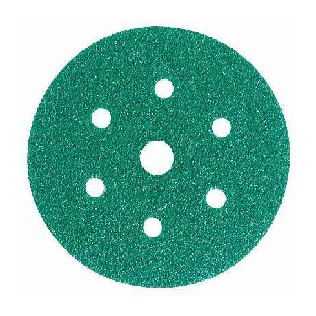 3M P40 Green Hookit Disc 245, 150 mm, 7 Hole, Pack of 50 - by Grove