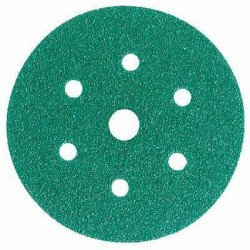 3M P80 Green Hookit Disc 245, 150 mm, 7 Hole, Pack of 50 - by Grove