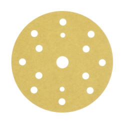 3M P120 Gold Hookit Disc 255P+, 150 mm, 15 Hole, Pack of 100 - by Grove