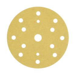 3M P360 Gold Hookit Disc 255P+, 150 mm, 15 Hole, Pack of 100 - by Grove
