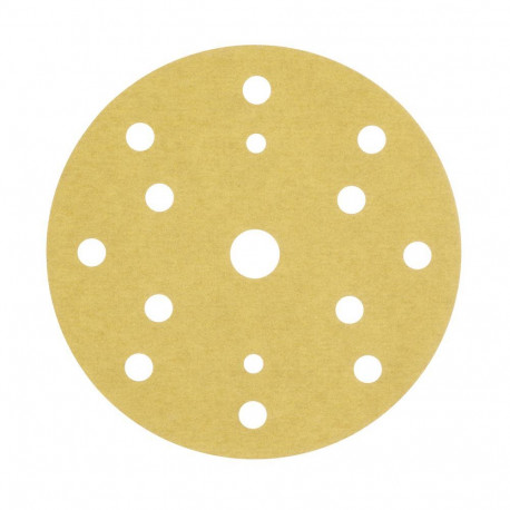 3M P400 Gold Hookit Disc 255P+, 150 mm, 15 Hole, Pack of 100 - by Grove