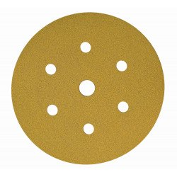 Mirka P180 Gold Grip Discs 7 Hole, 150mm (Pack of 100) - by Grove