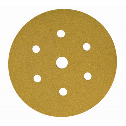 Mirka P240 Gold Grip Discs 7 Hole, 150mm (Pack of 100) - by Grove