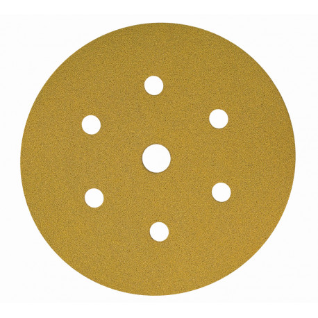 Mirka P500 Gold Grip Discs 7 Hole, 150mm (Pack of 100) - by Grove