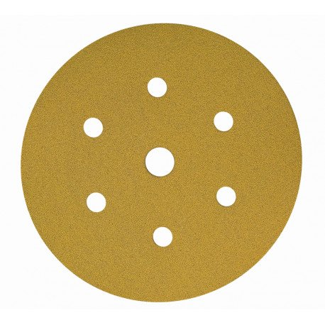 Mirka P120 Gold Grip Discs 7 Hole, 150mm (Pack of 100) - by Grove