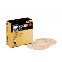 Indasa P80 150mm Plusline 7 Hole Rhynogrip Discs, Pack of 50 - by Grove