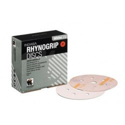 Indasa P150 150mm Whiteline Rhynogrip Discs 7 Hole, Pack of 100.