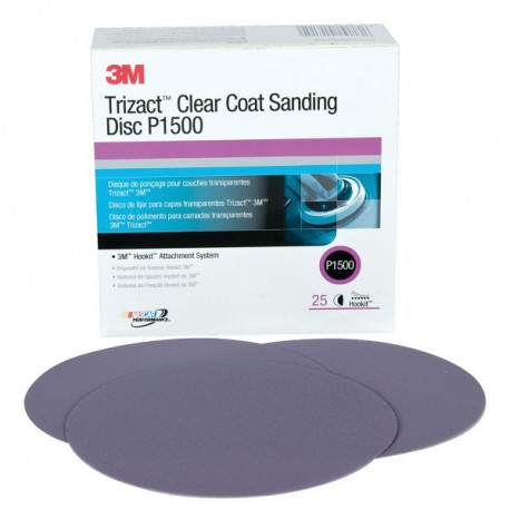 3M P1500 75mm Trizact Clearcoat Sanding Disc, NH, Qty 25 - by Grove