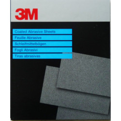 3M P220, 230mm x 280mm, Wetordry Sheet 734,  Qty of 25  by Grove