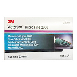 3M P2000, 138mm x 230mm, Wetordry Sheet 401Q,  Qty of 50 - by Grove