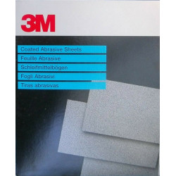3M  P120 Fre-Cut Abrasive Sheet 618, 230 x 280mm, Qty of 50 - by Grove