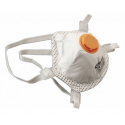 Powertec  Disposable FFP3 Dust Masks (Respirator), Single - by Grove