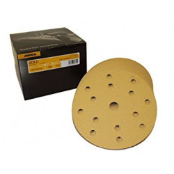 Mirka P800 150mm Gold Grip Discs 15Hole  (Pack of 100) - by Grove