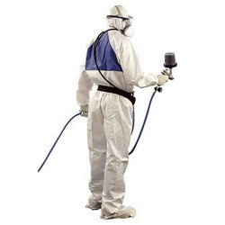 3M Large Disposable Paintshop Coverall, White, Type 5/6 - by Grove