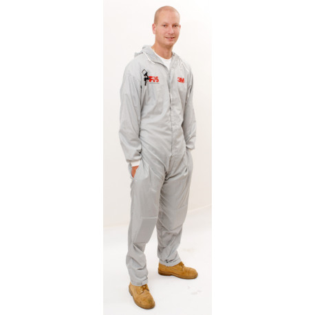 3M Large Reusable Paintshop Coverall, Grey - by Grove