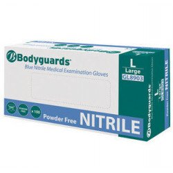 Bodyguards Medium Powder Free Nitrile Gloves, Box of 100 - by Grove