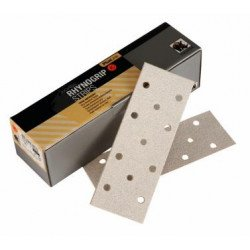 Indasa P120 70 x 198mm Plusline 11 Hole Strips, Pack of 50 - by Grove