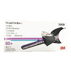 3M P60+ 10 x 330mm Cubitron II File Belt 786F, Qty of 10 - by Grove