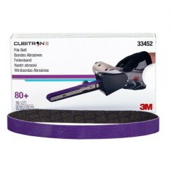 3M P80+ 20 x 520mm Cubitron II File Belt 786F, Qty of 10 - by Grove