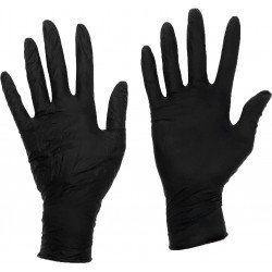 Bodyguards Medium Black Powder Free Nitrile Glove, Box of 100 - by Grove