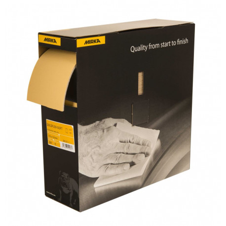 Mirka P600 115 x 125mm Goldflex Soft Perforated Roll (200 pads per roll)