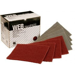 Indasa Very Fine Red 150 x 230mm, Web Hand Pads, Pack of 20 - by Grove