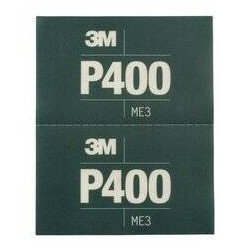 3M P400 139 x 172mm Hookit Flexible Hand Sheet 270j, Pack of 25