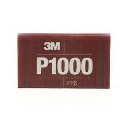 3M P1000 139 x 172mm Hookit Flexible Hand Sheet 270j, Pack of 25