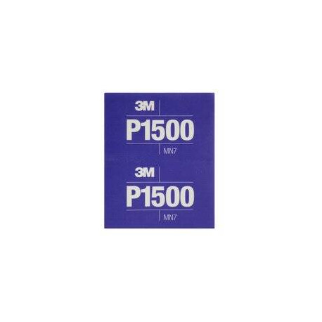 3M P1500 139 x 172mm Hookit Flexible Hand Sheet 270j, Pack of 25